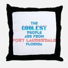Coolest: Fort Lauderdal, FL Throw Pillow