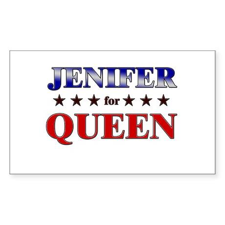 JENIFER for queen Rectangle Sticker