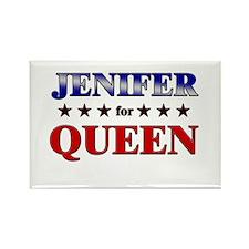 JENIFER for queen Rectangle Magnet
