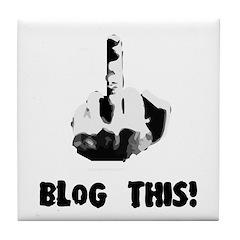 Blog This! Tile Coaster