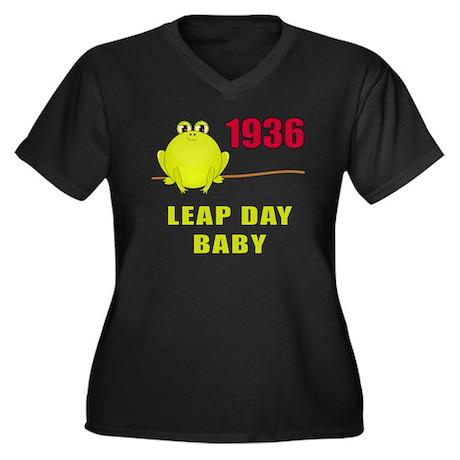 1936 Leap Year Baby Women's Plus Size V-Neck Dark