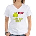 1932 Leap Year Baby Women's V-Neck T-Shirt