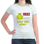 1932 Leap Year Baby Jr. Ringer T-Shirt