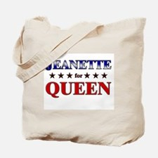 JEANETTE for queen Tote Bag