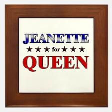 JEANETTE for queen Framed Tile