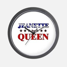 JEANETTE for queen Wall Clock