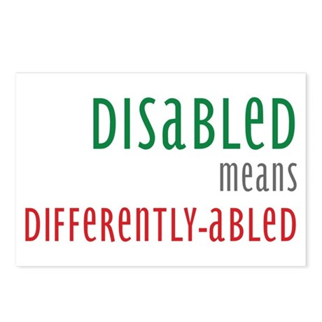They are differently abled, not disabled