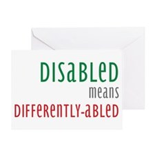 Disabled = Differently-abled Greeting Card