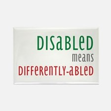 Disabled = Differently-abled Rectangle Magnet