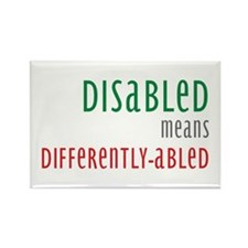 Disabled = Differently-abled Rectangle Magnet (10