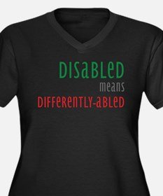 Disabled = Differently-abled Women's Plus Size V-N