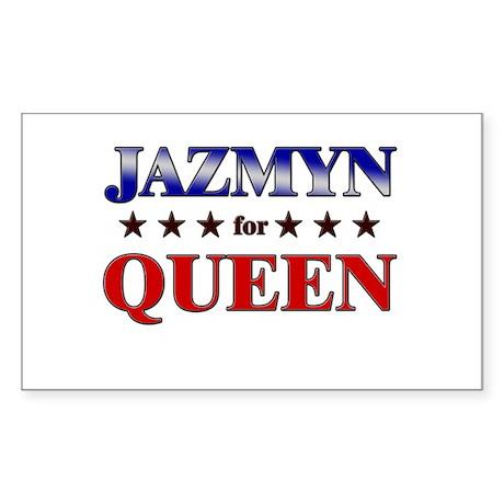 JAZMYN for queen Rectangle Sticker