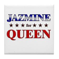 JAZMINE for queen Tile Coaster