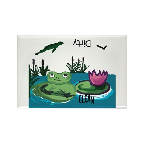 Frog Rectangle Dishwasher Magnet
