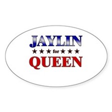 JAYLIN for queen Oval Decal