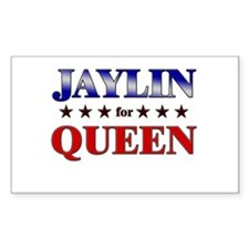 JAYLIN for queen Rectangle Decal