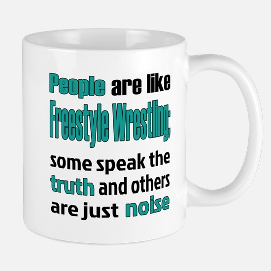 People are like Freestyle Wrestling Mug