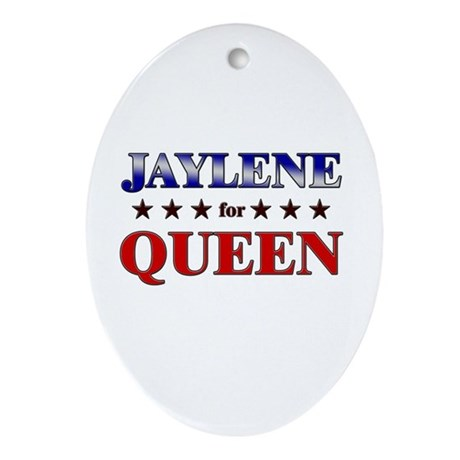 JAYLENE for queen Oval Ornament