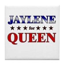 JAYLENE for queen Tile Coaster