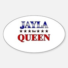 JAYLA for queen Oval Decal