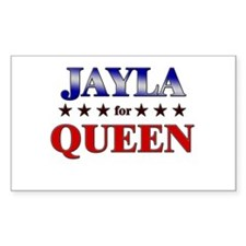 JAYLA for queen Rectangle Decal