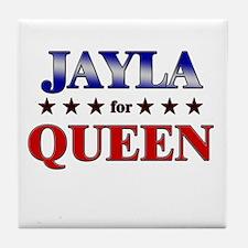 JAYLA for queen Tile Coaster