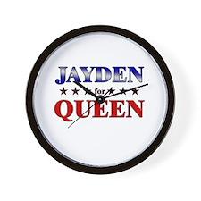 JAYDEN for queen Wall Clock
