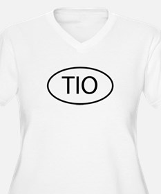TIO Womes Plus-Size V-Neck T-Shirt