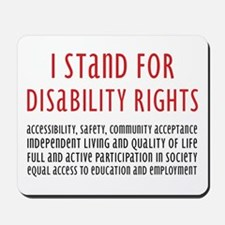 Disability Rights Mousepad