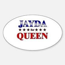 JAYDA for queen Oval Decal