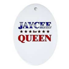 JAYCEE for queen Oval Ornament
