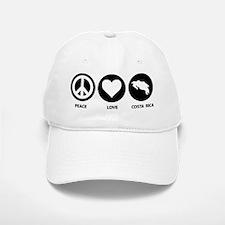 Peace Love Costa Rica Baseball Baseball Cap