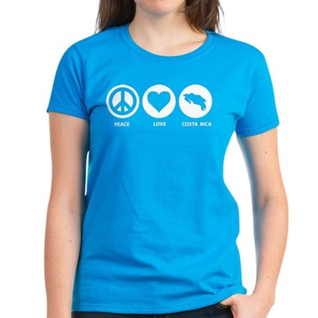 Peace Love Costa Rica Women's Dark T-Shirt