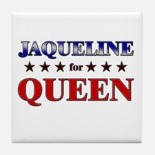JAQUELINE for queen Tile Coaster