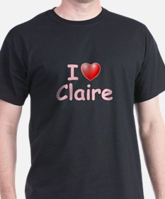 I Love Claire (P) T-Shirt