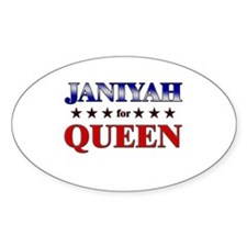 JANIYAH for queen Oval Decal