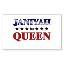 JANIYAH for queen Rectangle Decal