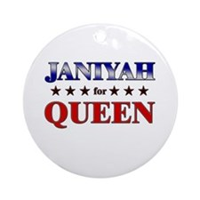 JANIYAH for queen Ornament (Round)