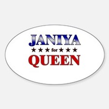 JANIYA for queen Oval Decal