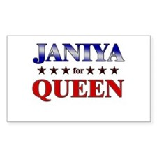 JANIYA for queen Rectangle Decal