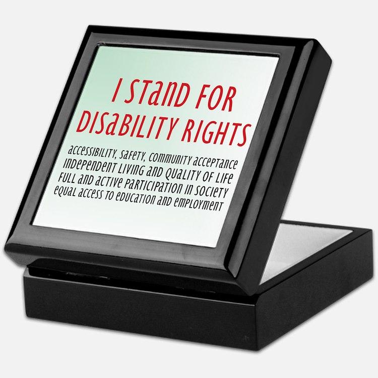 Disability Rights Keepsake Box