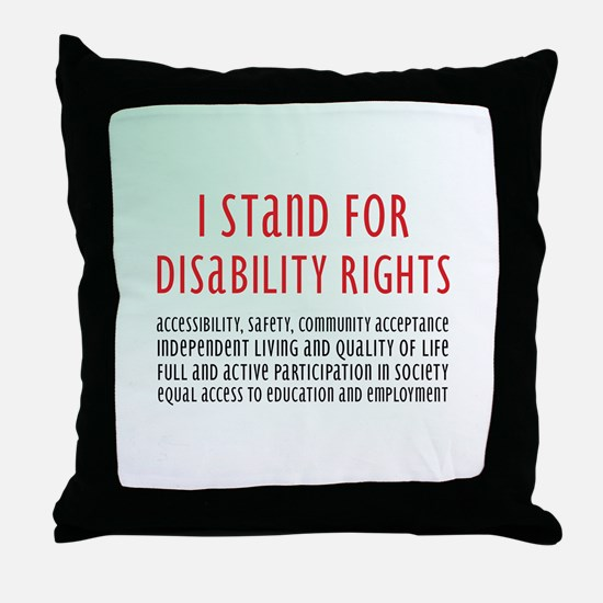 Disability Rights Throw Pillow