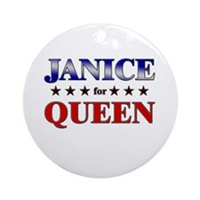 JANICE for queen Ornament (Round)