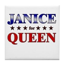 JANICE for queen Tile Coaster
