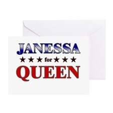 JANESSA for queen Greeting Card