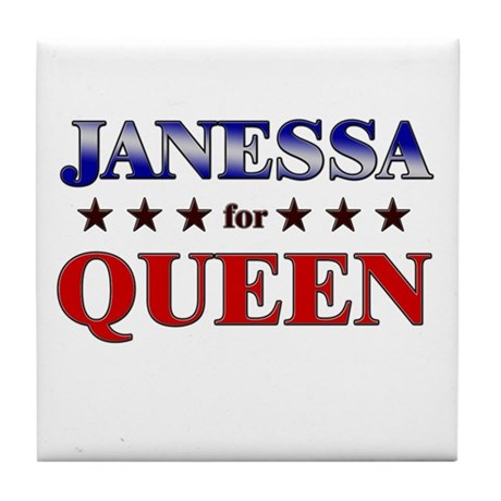 JANESSA for queen Tile Coaster