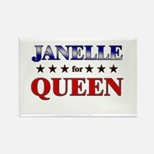 JANELLE for queen Rectangle Magnet