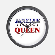 JANELLE for queen Wall Clock