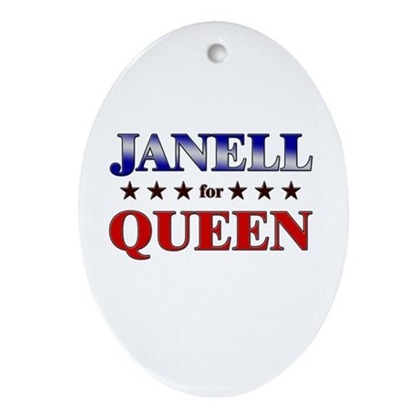 JANELL for queen Oval Ornament