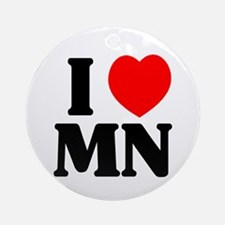 I love Minnesota Ornament (Round)